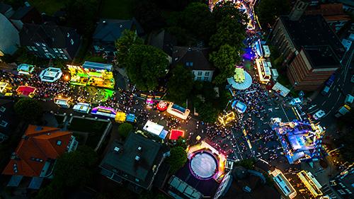 Nachtoptik 360° Panorama der Gevelsberger Kirmes 2016